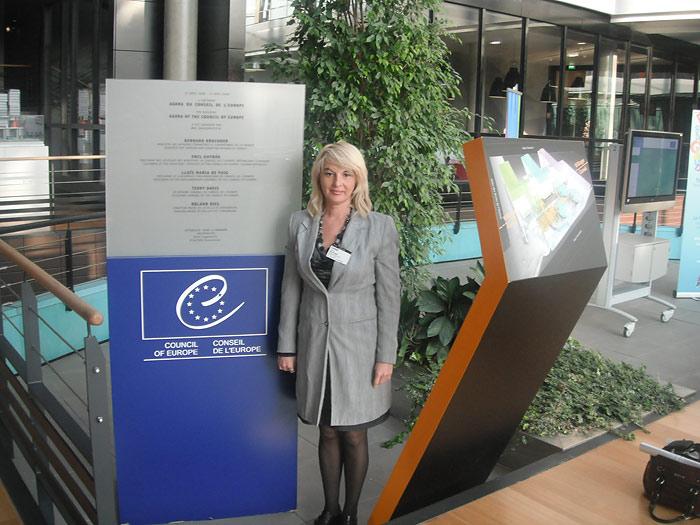 В здании Агора - одного из зданий Совета Европы в Страсбурге